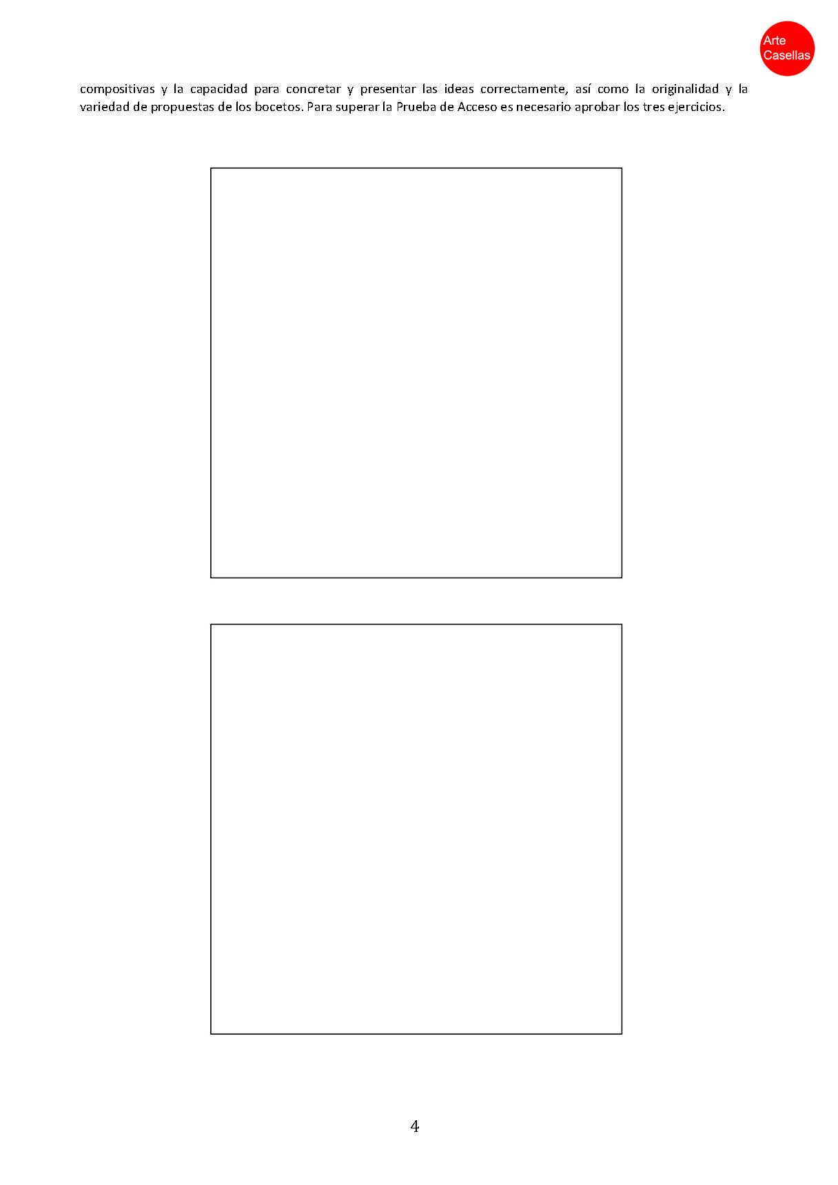 Arte Casellas. Modelo examen prueba específca Arte Diez Ilustración 2018. Clases preparación. Presencial. Online 4